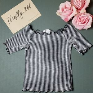 [Caution To The Wind] Off The Shoulder Top - NWOT